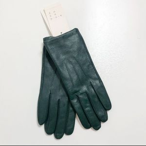 A new day Faux Leather Green Gloves